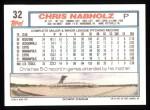 1992 Topps #32   Chris Nabholz Back Thumbnail
