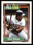 1992 Topps #397   -  Cecil Fielder All-Star Front Thumbnail