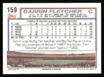 1992 Topps #159   Darrin Fletcher Back Thumbnail
