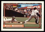 1992 Topps #2   -  Rickey Henderson Record Breaker Front Thumbnail