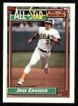 1992 Topps #401  All-Star  -  Jose Canseco Front Thumbnail