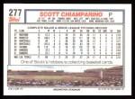 1992 Topps #277  Scott Chiamparino  Back Thumbnail