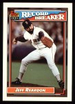 1992 Topps #3  Record Breaker  -  Jeff Reardon Front Thumbnail