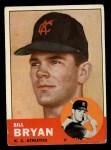 1963 Topps #236   Bill Bryan Front Thumbnail