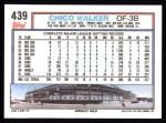 1992 Topps #439  Chico Walker  Back Thumbnail