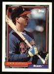 1992 Topps #49   Damon Berryhill Front Thumbnail