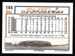 1992 Topps #144  Bill Swift  Back Thumbnail