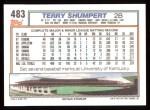 1992 Topps #483  Terry Shumpert  Back Thumbnail