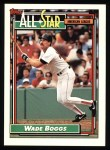 1992 Topps #399  All-Star  -  Wade Boggs Front Thumbnail