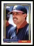 1992 Topps #70  Gary Gaetti  Front Thumbnail