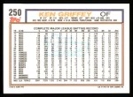 1992 Topps #250   Ken Griffey Back Thumbnail