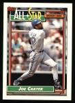 1992 Topps #402  All-Star  -  Joe Carter Front Thumbnail