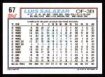 1992 Topps #67  Luis Salazar  Back Thumbnail