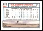 1992 Topps #286  Gilberto Reyes  Back Thumbnail
