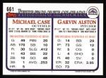 1993 Topps #661   Garvin Alston Back Thumbnail