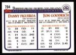 1993 Topps #704   Jon Goodrich Back Thumbnail