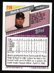 1993 Topps #719   Butch Henry Back Thumbnail