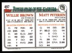 1993 Topps #497   Matt Petersen Back Thumbnail
