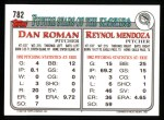 1993 Topps #782  Reynol Mendoza  Back Thumbnail
