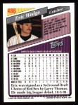 1993 Topps #486   Eric Wedge Back Thumbnail