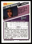 1993 Topps #676   Rudy Seanez Back Thumbnail