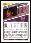 1993 Topps #606  Jayhawk Owens  Back Thumbnail