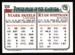 1993 Topps #558  Ryan Whitman  Back Thumbnail