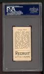 1912 T207 #88   George Kahler   Back Thumbnail