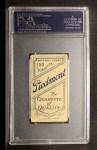1909 T206 #292 CHI Carl Lundgren  Back Thumbnail