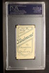 1909 T206 #77 BAT Frank Chance  Back Thumbnail