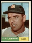 1961 Topps #11 COR  Curt Simmons Front Thumbnail