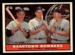 1961 Topps #173  Beantown Bombers  -  Jackie Jensen / Frank Malzone / Vic Wertz Front Thumbnail