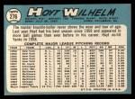 1965 Topps #276   Hoyt Wilhelm Back Thumbnail