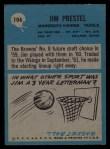 1964 Philadelphia #106  Jim Prestel  Back Thumbnail