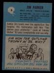 1964 Philadelphia #8  Jim Parker     Back Thumbnail