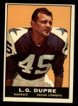 1961 Topps #22  L.G. Dupre  Front Thumbnail