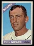 1966 Topps #28  Phil Niekro  Front Thumbnail