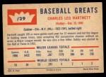 1960 Fleer #29   Gabby Hartnett Back Thumbnail