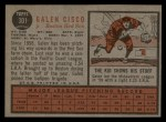 1962 Topps #301  Galen Cisco  Back Thumbnail