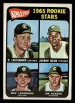 1965 Topps #526  Athletics Rookies  -  Catfish Hunter / Johnny Odom / Skip Lockwood / Rene Lachemann Front Thumbnail
