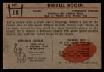1953 Bowman #60  Darrell Hogan  Back Thumbnail