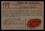 1953 Bowman #83  Bob Thomason  Back Thumbnail