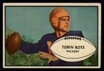 1953 Bowman #28  Tobin Rote  Front Thumbnail