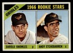 1966 Topps #27  Orioles Rookies  -  Andy Etchebarren / Darold Knowles Front Thumbnail