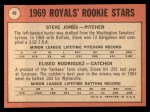 1969 Topps #49 COR  -  Steve Jones / Ellie Rodriguez Royals Rookies Back Thumbnail