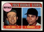 1969 Topps #49 ERR  -  Steve Jones / Eliseo Rodriquez Royals Rookies Front Thumbnail