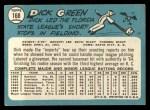 1965 Topps #168   Dick Green Back Thumbnail