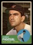 1963 Topps #220   Camilo Pascual Front Thumbnail