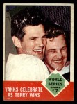 1963 Topps #148  1962 World Series - Game #7 - Yanks Celebrate as Terry Wins  -  Ralph Terry Front Thumbnail