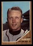 1962 Topps #4   John DeMerit Front Thumbnail